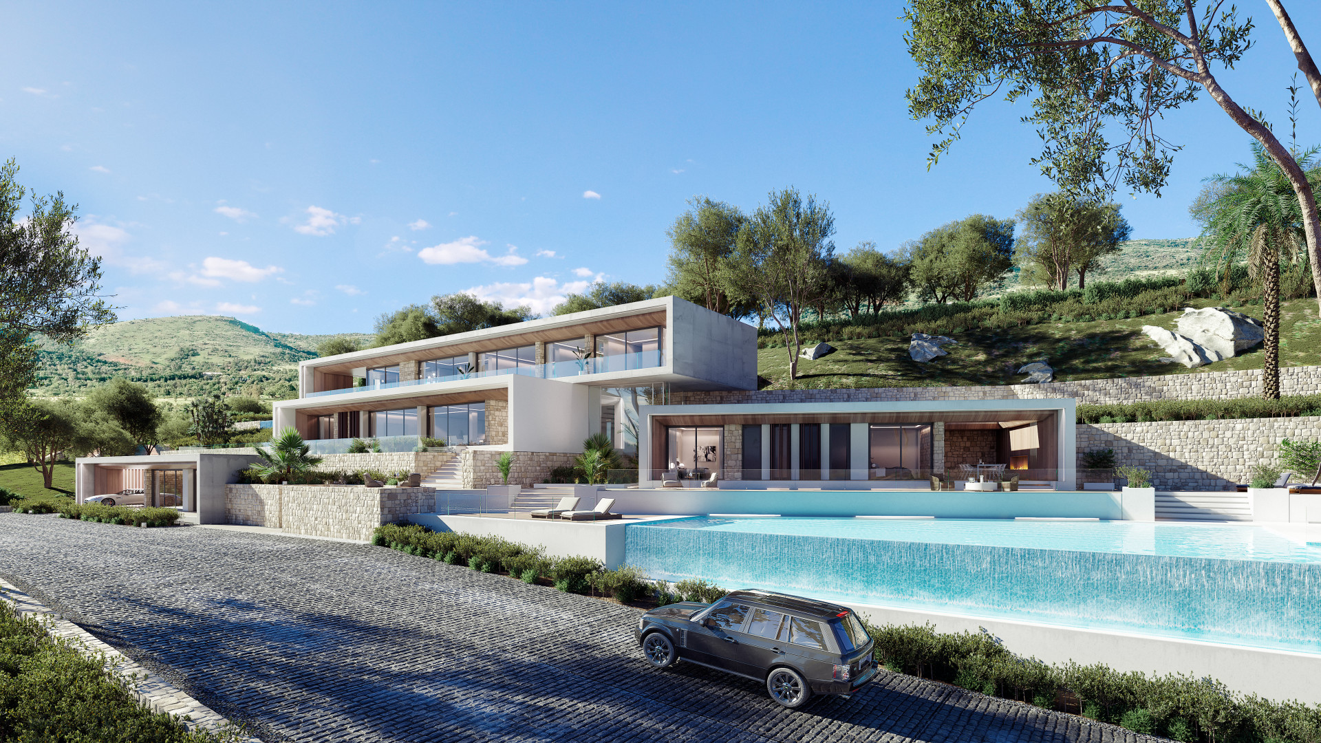 Taylor made turnkey project of brand new modern villas for sale in Benahavis, La Quinta