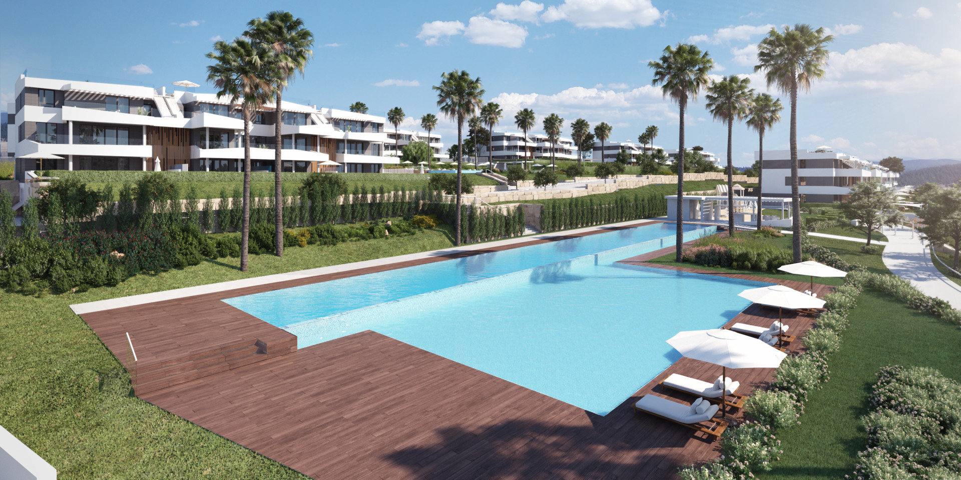 New complex of modern-contemporary apartments for sale in El Limonar - Málaga City