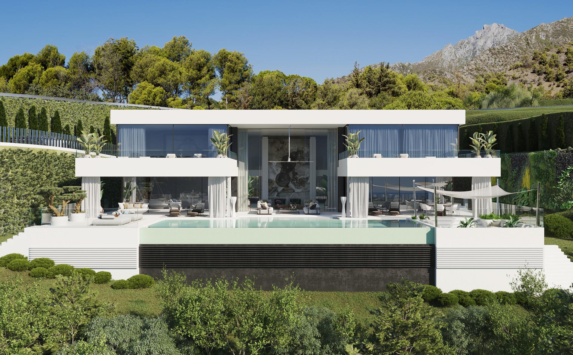 Avant-garde modern detached mansion for sale in for sale in Benahavis