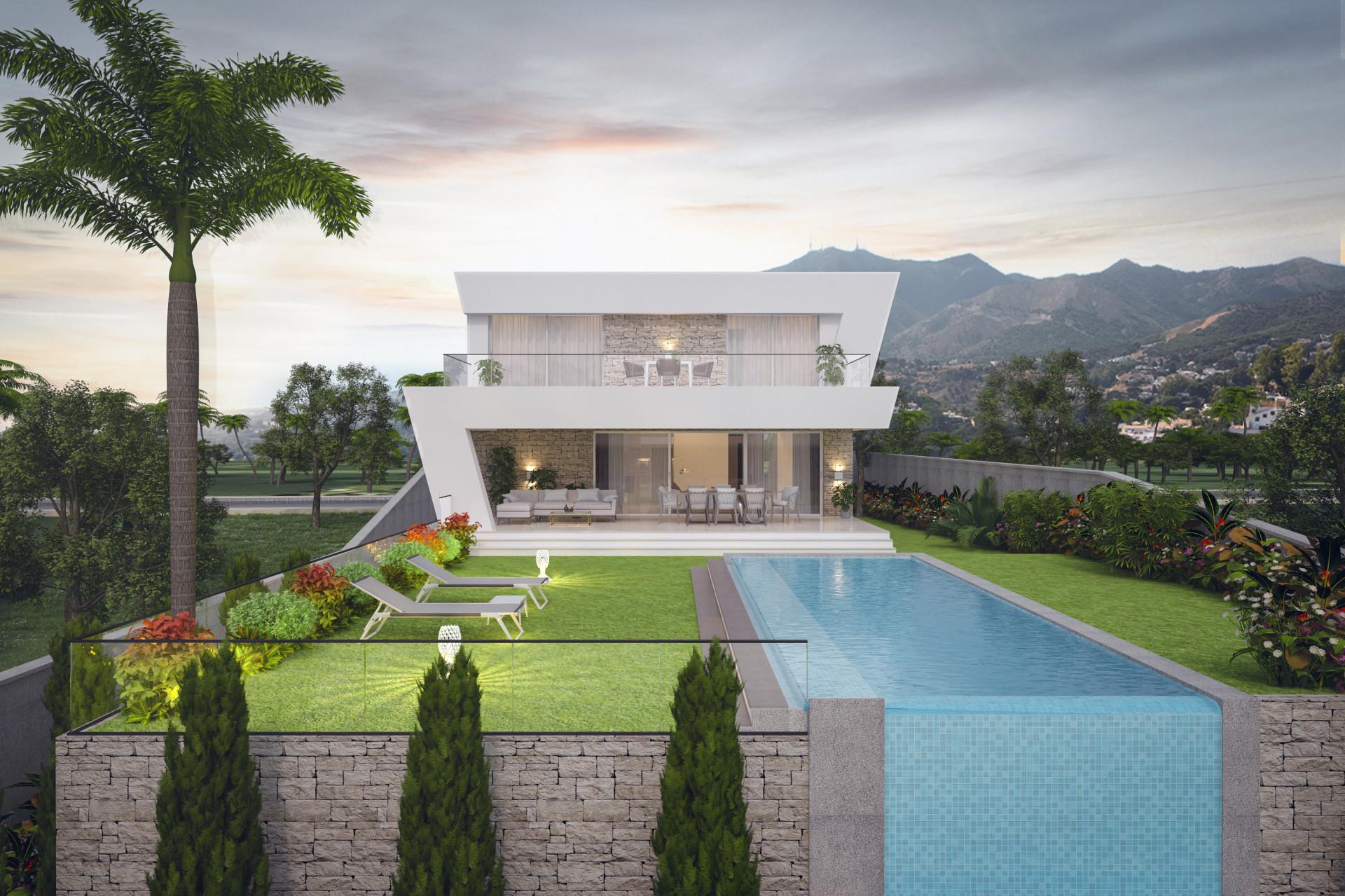 Complex of modern detached villas for sale in La Cala de Mijas - Mijas Costa