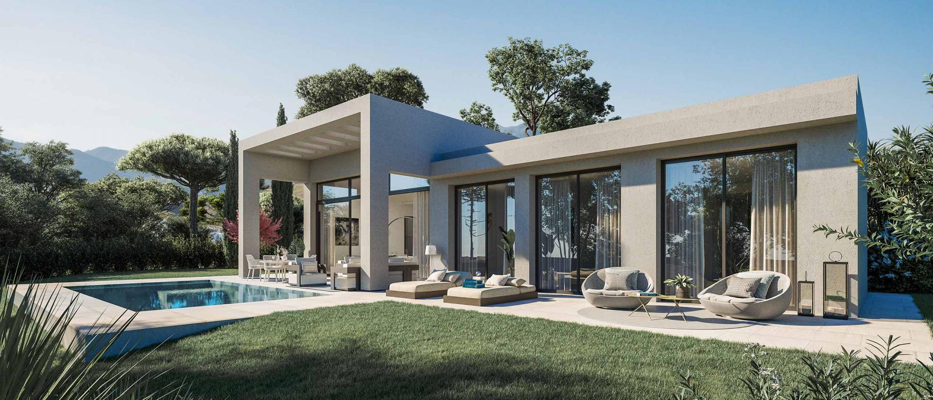 Complex of modern villas for sale in - Benahavis