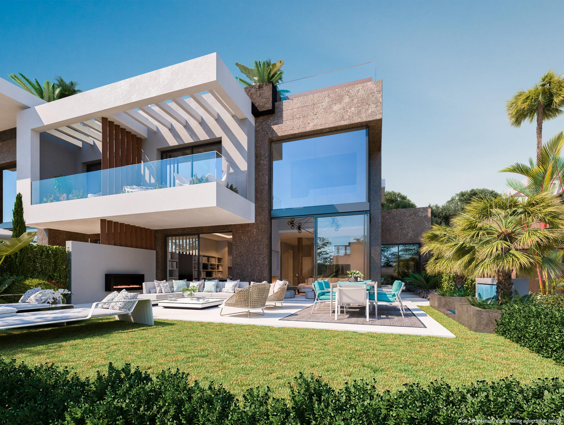 Complex of Modern semidetached golf villas in Rio Real – Marbella