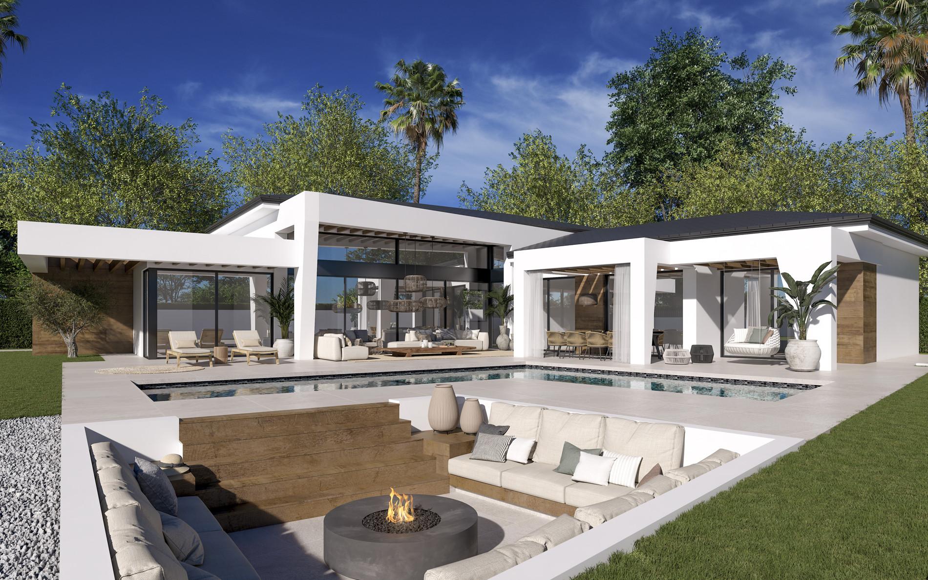 Boutique contemporary complex of modern villa for sale in Nueva Andalucia