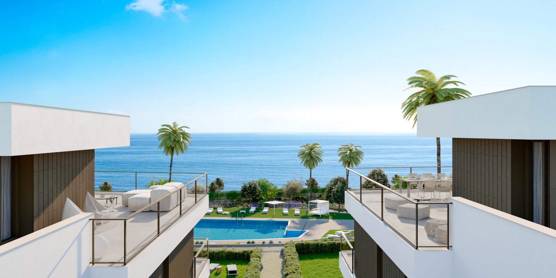 Exclusive beachfront apartment for sale in Casares Estepona