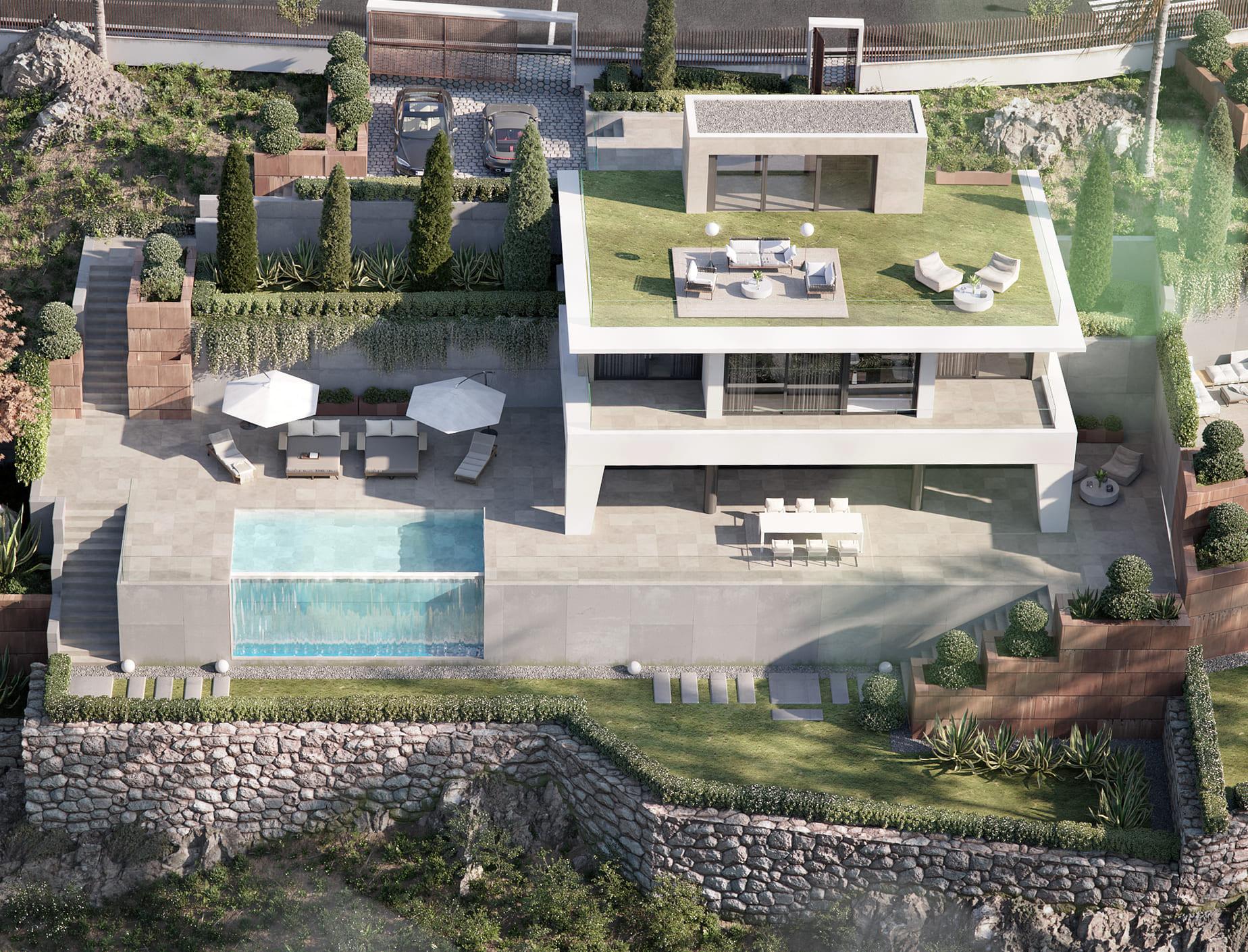 New modern style boutique complex of villas for sale in Puerto de la Duquesa