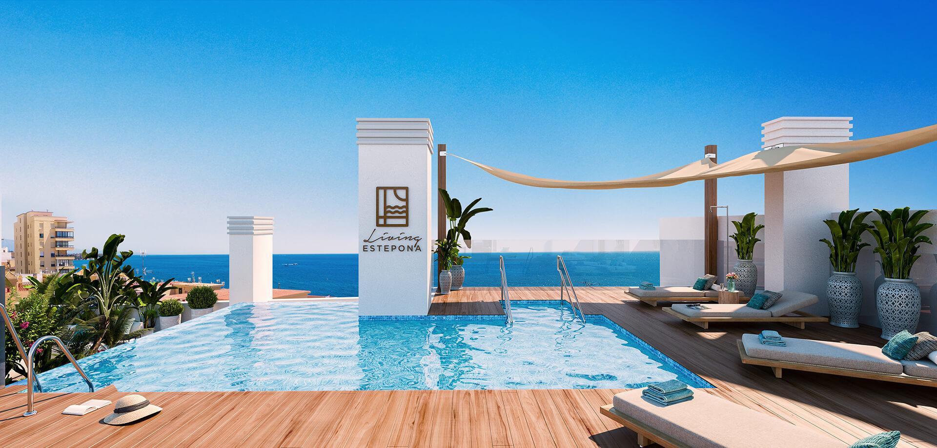 Nieuwe moderne strandappartementen te koop in Estepona