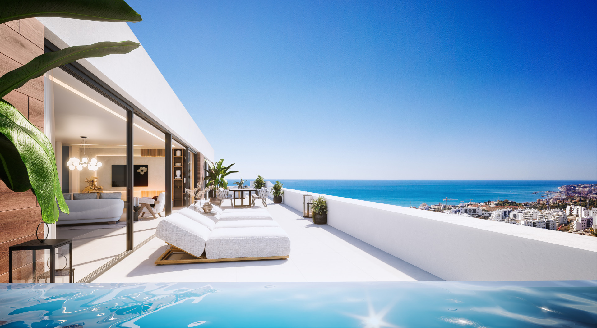 New Modern Boutique  complex of apartments for sale in El Higueron in Benalmadena