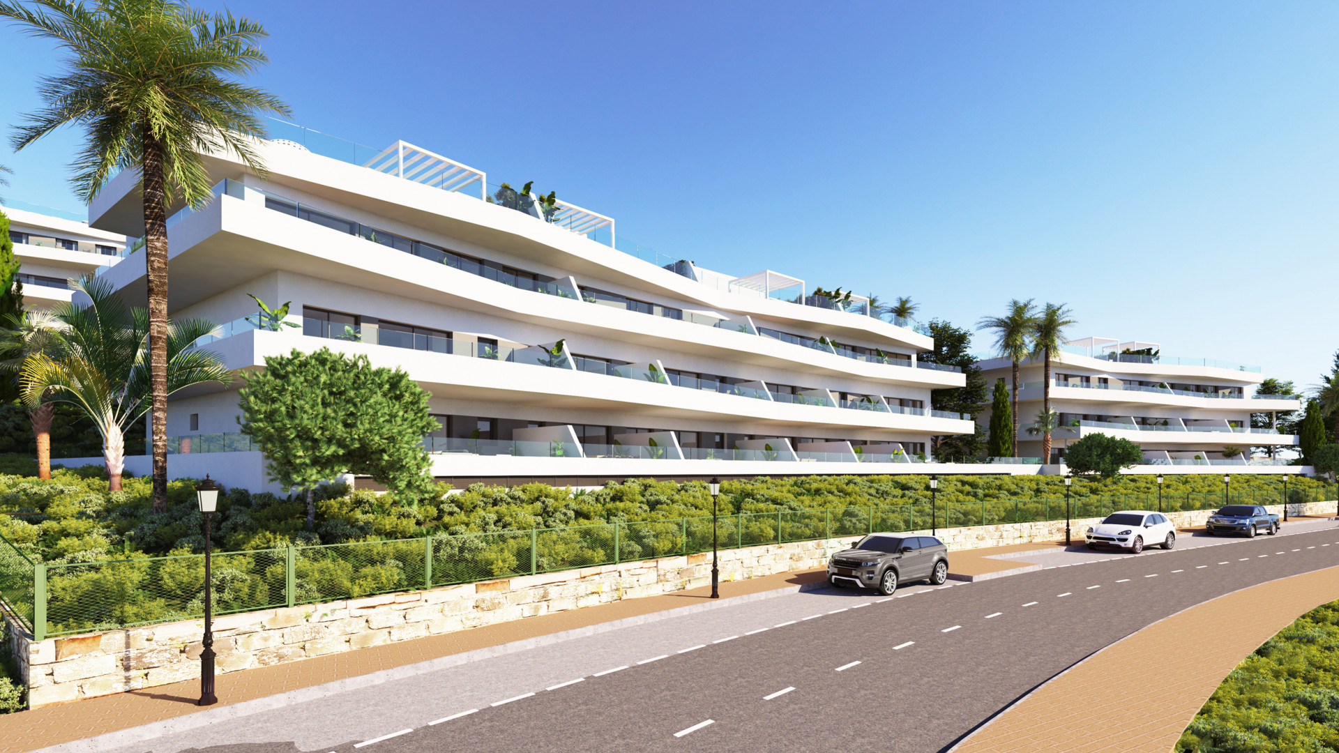 Contemporary apartments and penthouses with sea views for sale in Estepona.