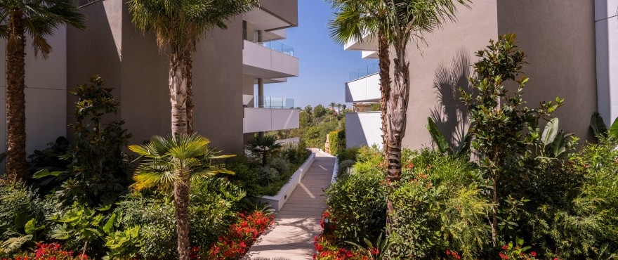 Apartments and penthouses in a sustainable development for sale in the privileged Benahavis