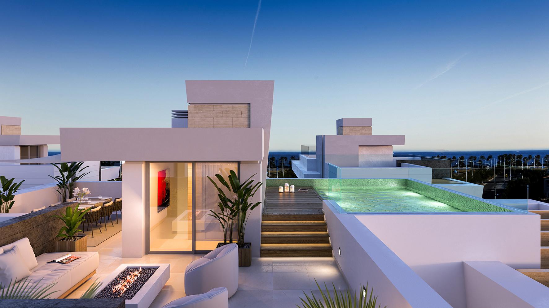Deluxe contemporary beachside villas for sale in San Pedro de Alcántara
