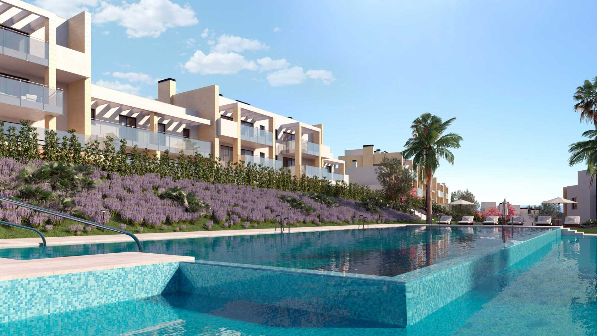Apartments and penthouses for sale close to golf in Casares