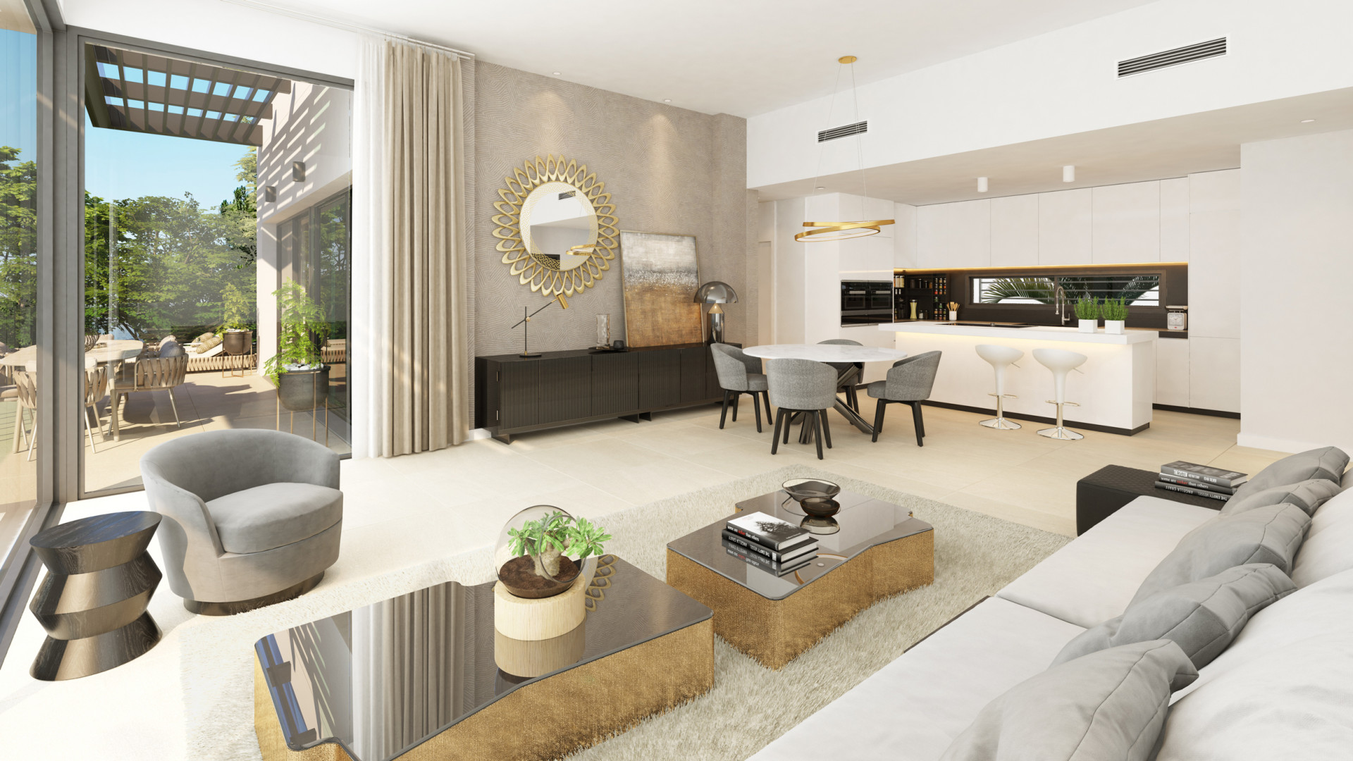 Elegant apartments and penthouses for sale in the privileged area of Benahavis