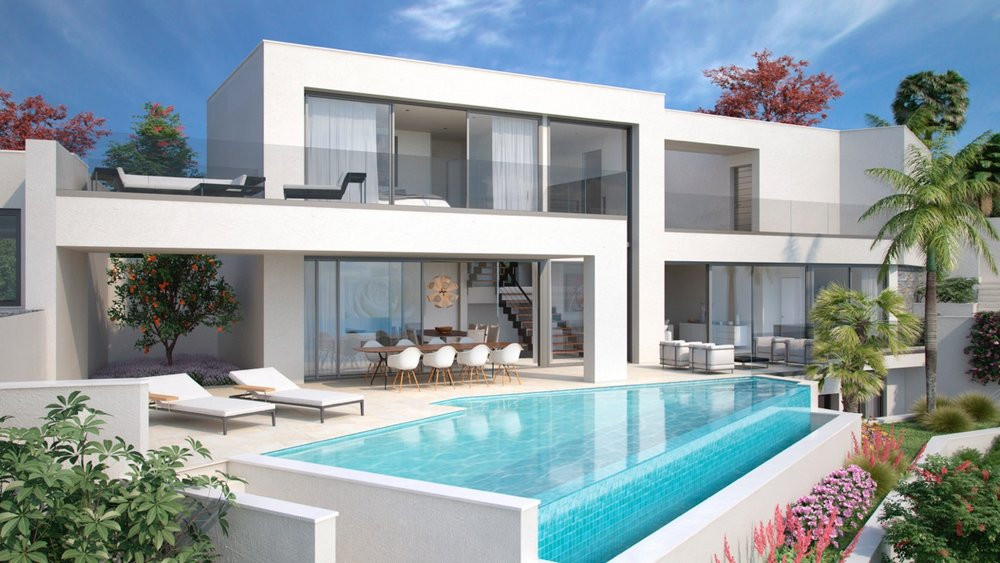 Modern villas with stunning sea views in Benalmádena