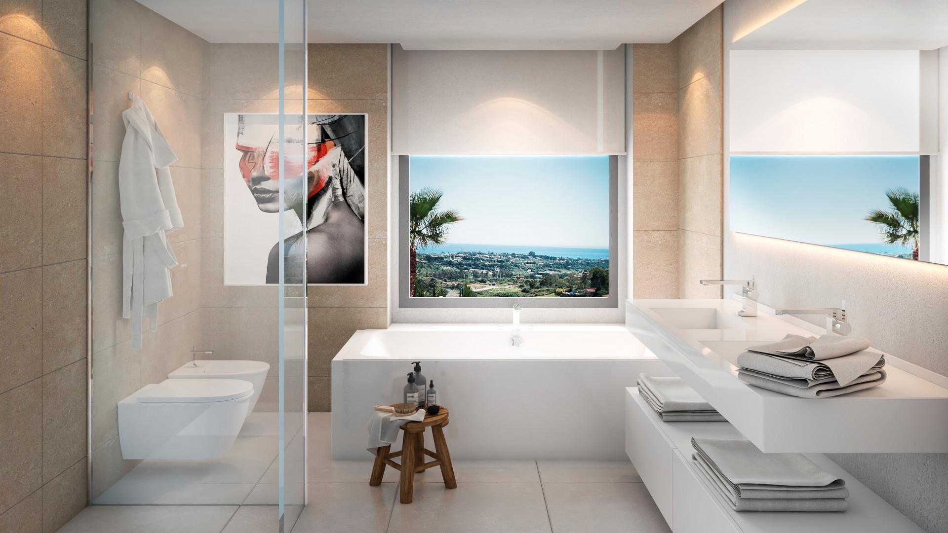 Villas modernas con vistas al mar