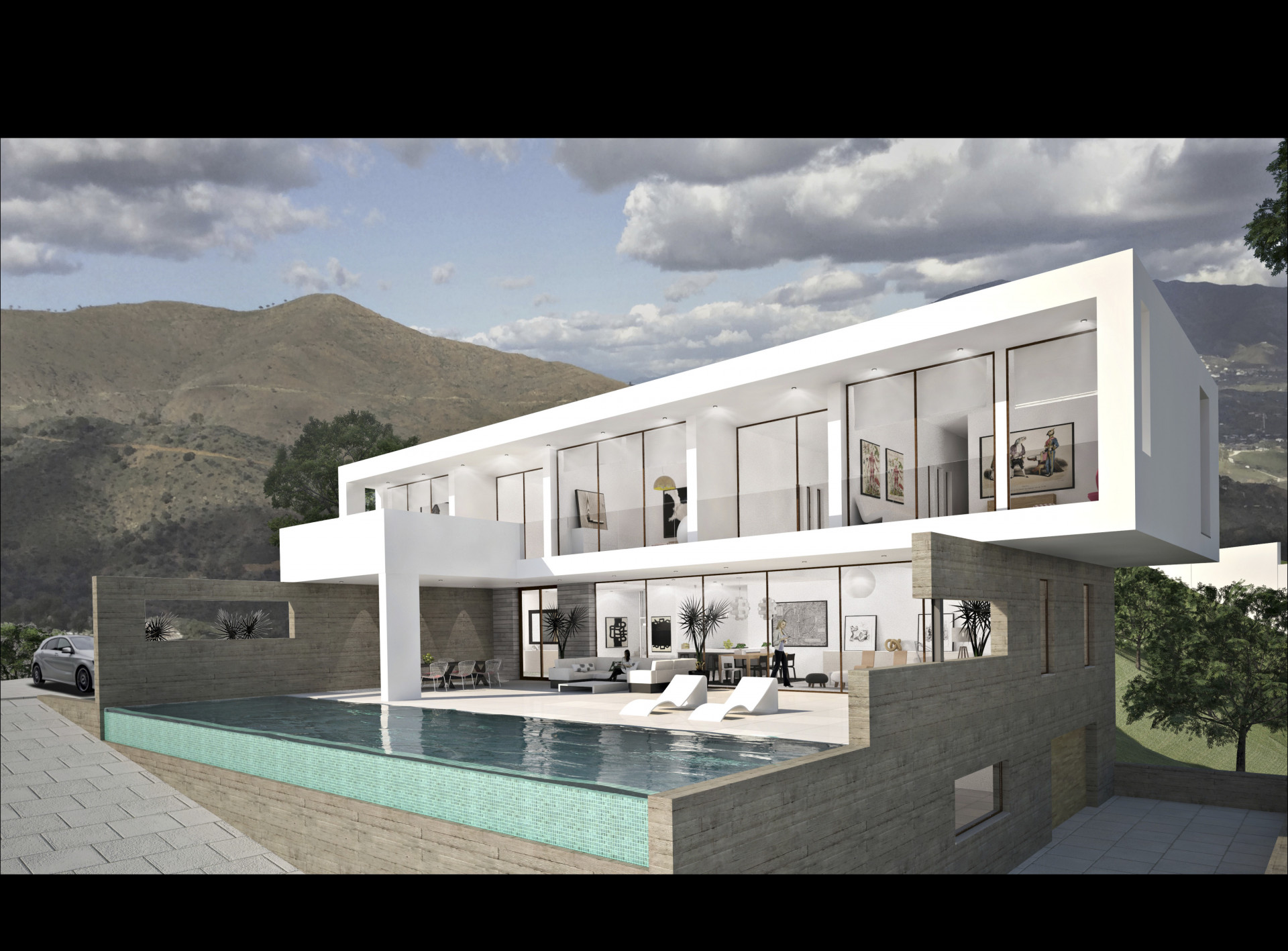 Contemporary style 4 bedroom villa under construction in Marbella East