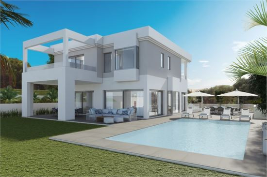 Off plan contemporary villa in Hacienda Las Chapas, Marbella
