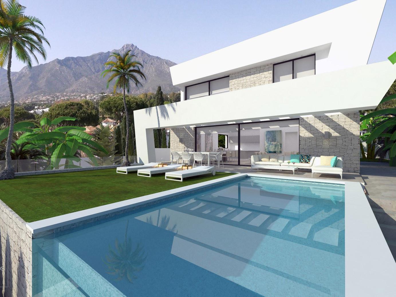 ARFV1885 - Projekt für 4 neue Villa zum Verkauf in La Cala de Mijas
