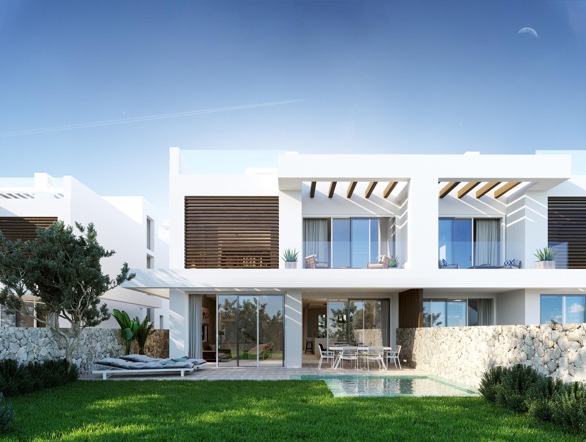 ARFV1959 - Projekt für 6 Doppelhaushälften zum Verkauf in Artola, Cabopino mit Sicht auf das Meer