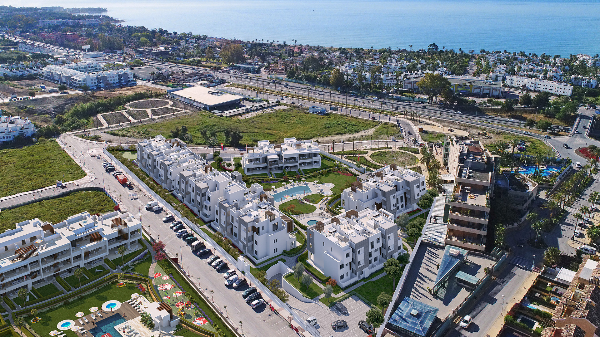 ARFA1344 - Neubauwohnungen zum Verkauf mit teilweise Meerblick in Strand und Stadtnähe bei Cancelada in Estepona