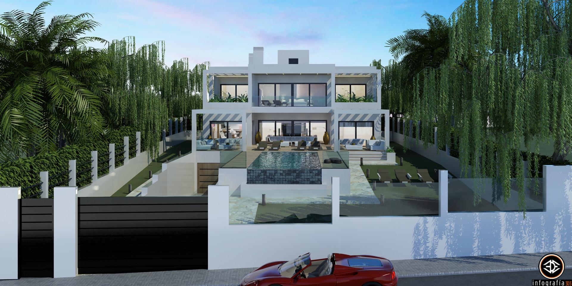 ARFV1209 - Moderne Luxusvilla in Strandlage zum Verkauf in Elviria in Marbella