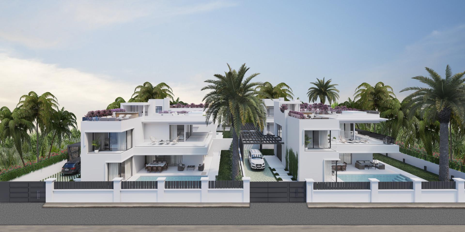ARFV2139 - Neubauvillen zum Verkauf in Strandlage in der Goldenen Meile von Marbella