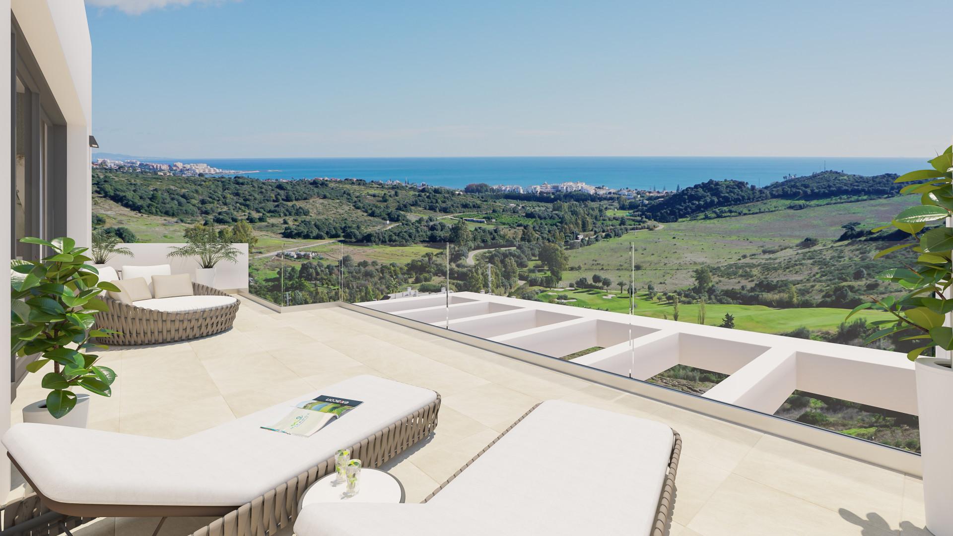 ARFA1240 - 54 moderne Wohnungen zu verkaufen in Estepona Golflage
