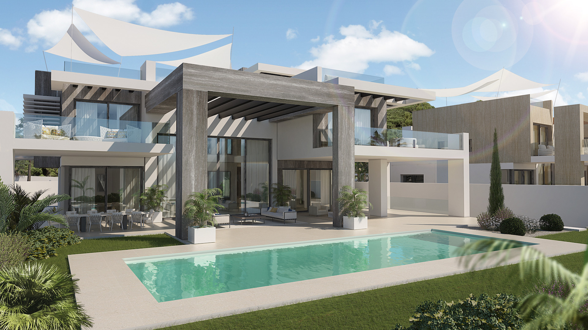 ARFV2010 - Zwei fantanstische Luxus Villen in Rocio de Nagueles in Marbella zum Verauf