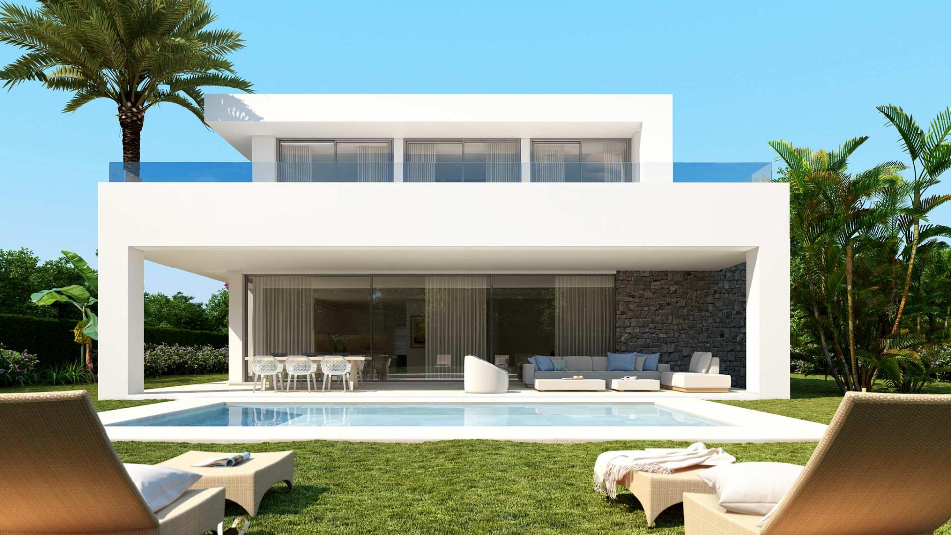 ARFV2194 - Moderne, projektierte Neubauvillen mit Meerblick zum Verkauf in Rio Real in Marbella