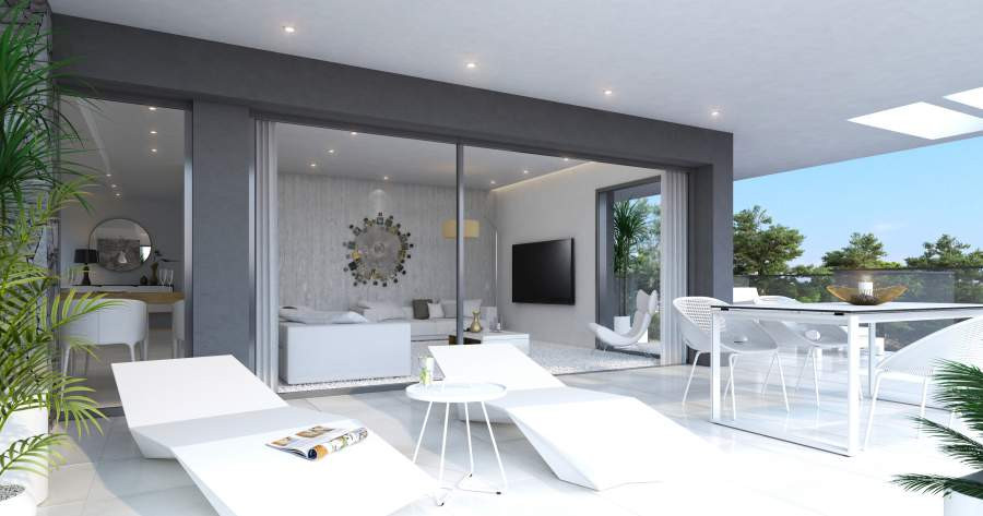 Modern duplex penthouse with sea views under construction in Estepona