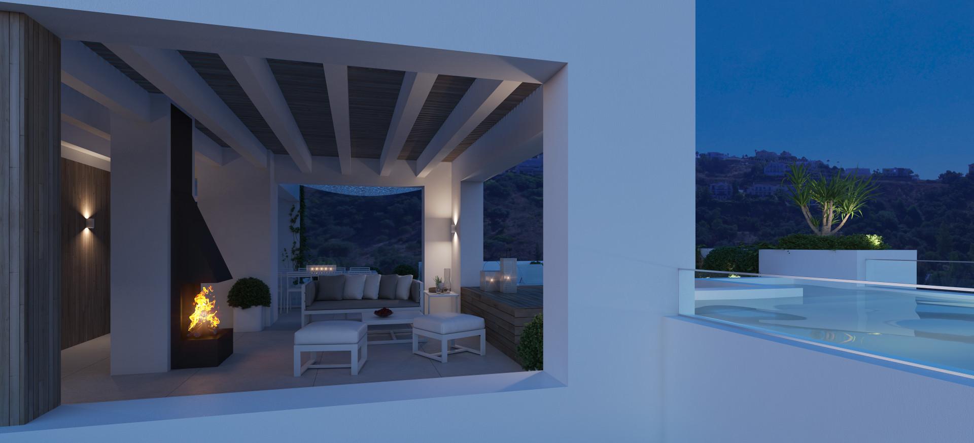 Benahavís: Small luxurious complex with panoramic views in Benahavis