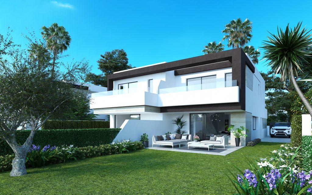 Semi-Detached Villas in the New Golden Mile in Estepona