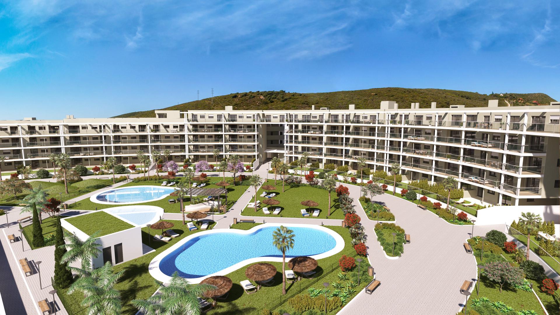 Gloednieuw tweedelijns strand complex aan zeer gunstige prijzen in Manilva