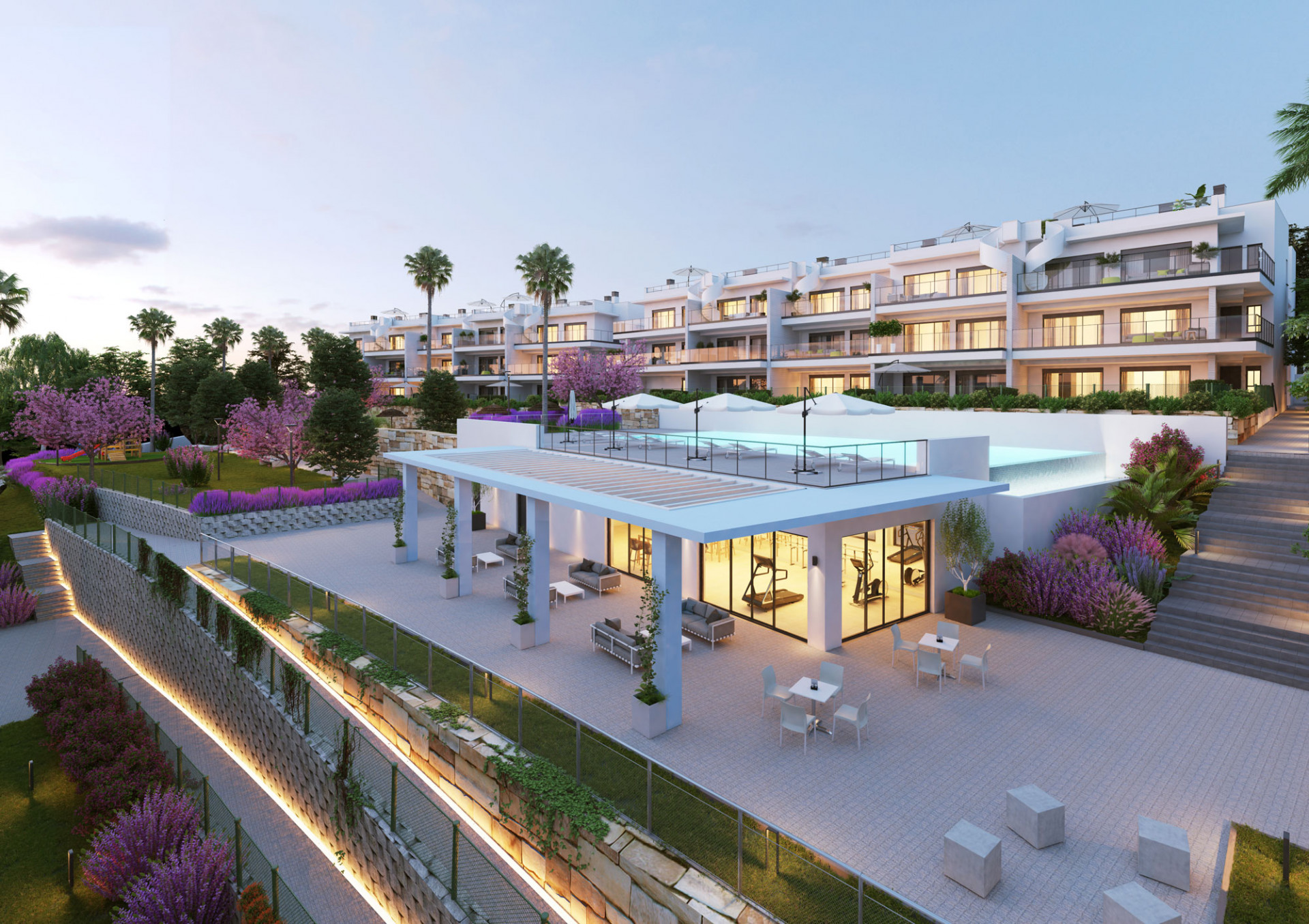 New key ready complex with sea views in Manilva