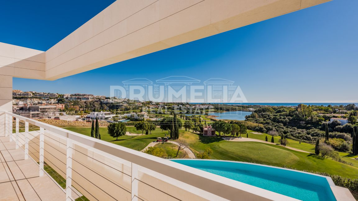 Benahavis, Exceptional Brand-New Modern Luxury Frontline Golf Villa With Panoramic Sea Views, Los Flamingos Golf Resort, Benahavis