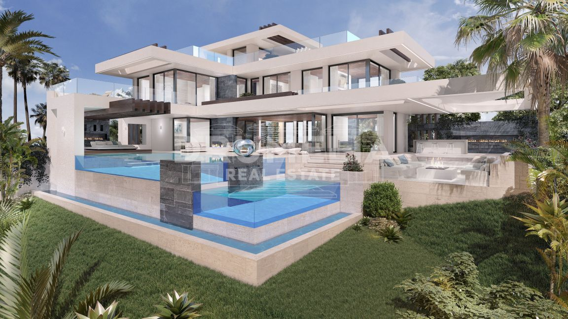 Benahavis,  New Modern Impressive Villa in La Alqueria, Benahavis (project)