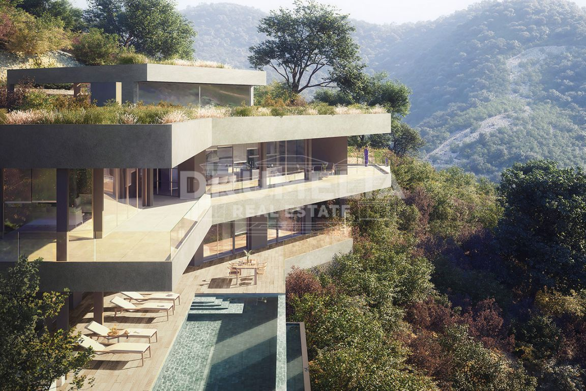 Brand New Unique Modern Luxury Eco-Villa with Panoramic Views in Monte Mayor, Benahavis