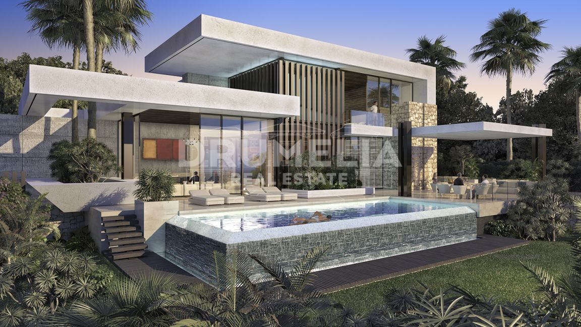 Benahavis, Superb Plot and Contemporary Style Luxury Villa Project, Los Flamingos, Benahavis