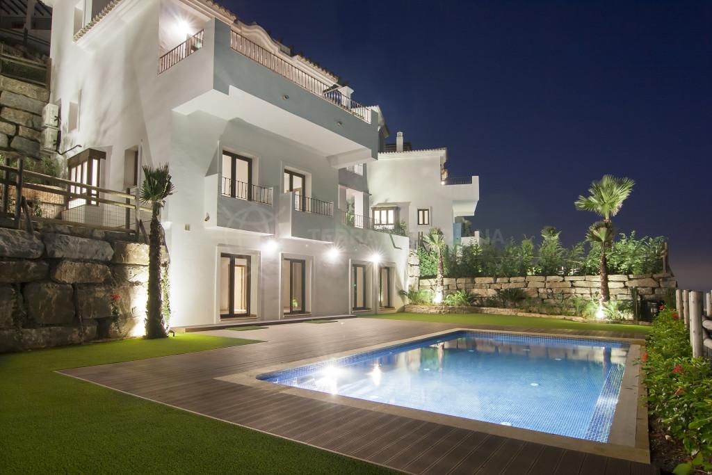 Benahavis, New 3 bedroom villa for sale nestled into the hills of Sierra Bermeja, Benahavis Hills Country Club with private pool and sea views