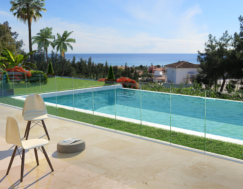 Estepona, Off plan 4 bedroom modern villa, for sale in Don Pedro, Estepona, with private pool and great sea views