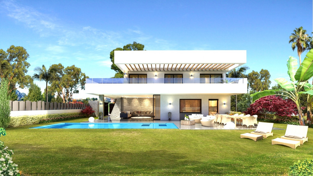 San Pedro de Alcantara, Modern off plan contemporary villa for sale in Balcon de San Pedro, with private pool