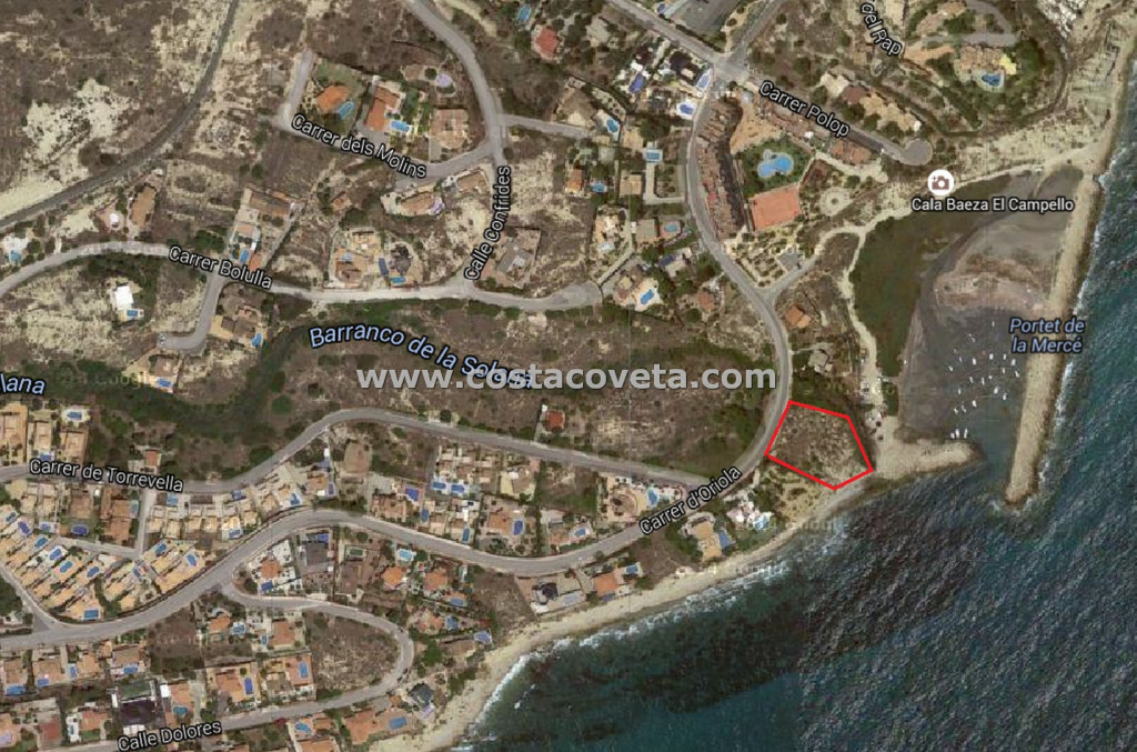 Beautiful front-line plot in Venta Lanuza - El Campello.