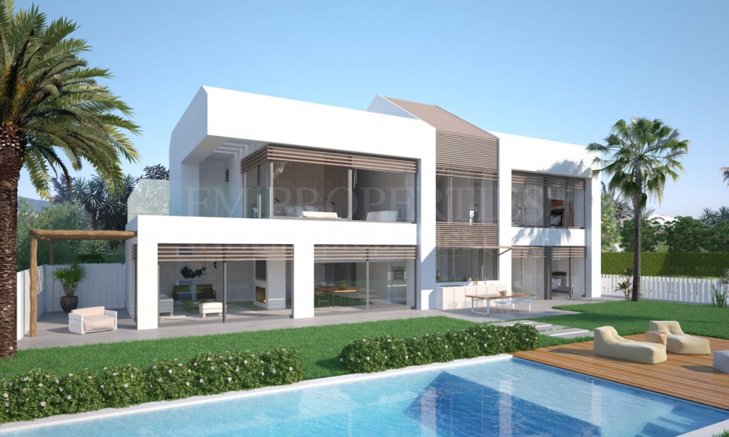 Estepona, New VILLA Project FRONTLINE beach