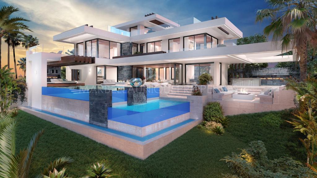 Stylish modern villa project in La Alqueria, Benahavis