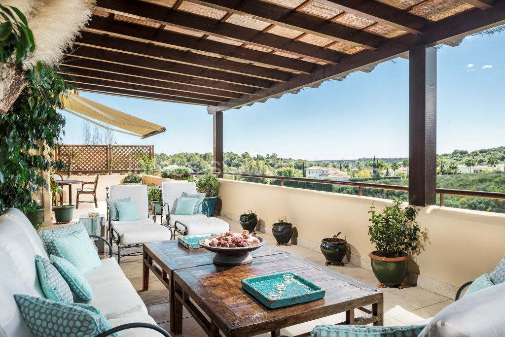 Sotogrande, South facing duplex penthouse overlooking a green zone