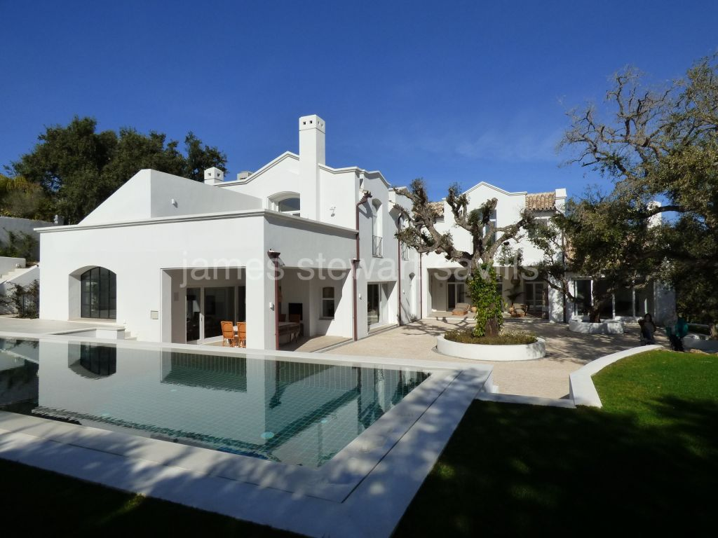 Sotogrande, A new stunning contemporary Andaluz villa surrounded by cork trees