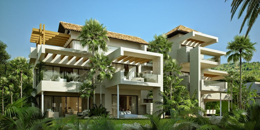 Benahavis, New gated development of luxury 3 and 4 bedroom apartments and penthouses for sale next to Marbella Club Golf Resort