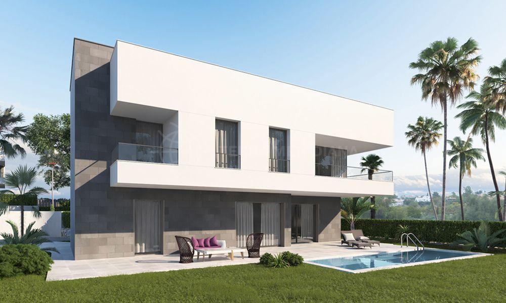 Estepona, Luxury new development of 4 Golf side villas for sale in El Camponario Golf in Estepona with private pools