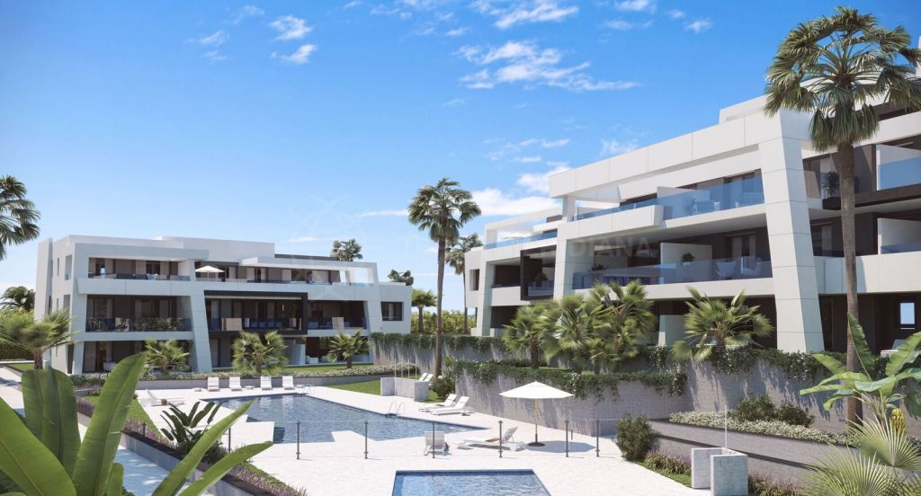 Estepona, Off plan contemporary penthouse for sale in Selwo Hills, with community pool just 10 minutes from Puerto Banus and Estepona