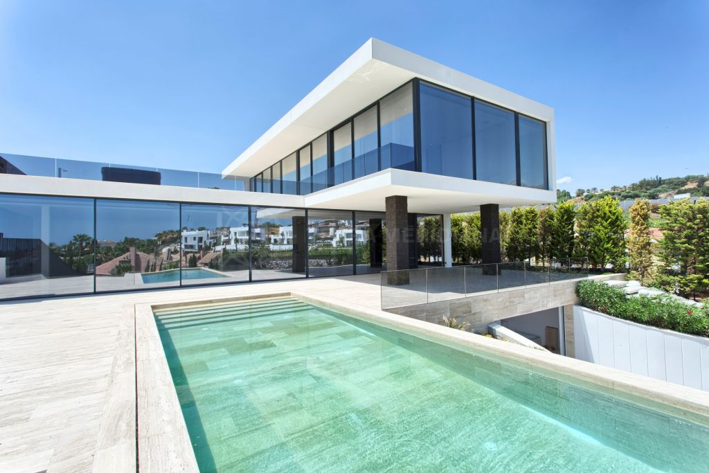 Nueva Andalucia, New-build, contemporary luxury villa for sale, with pool and mountain views, Haza del Conde, Nueva Andalucia