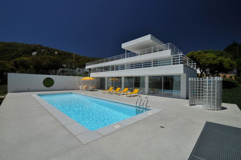 Tarifa, New-build, contemporary villa for sale, with pool, amazing Mediterranean views, large plot, El Cuartón, Tarifa